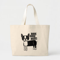 Cute Accent Boston Terrier Large Tote Bag