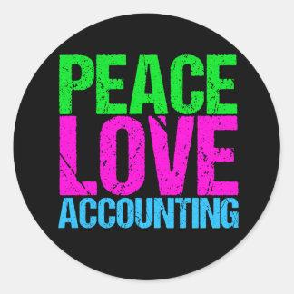 Cute Accountant Classic Round Sticker