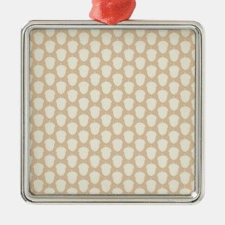 Cute Acorn Nut Silhouette Fall Autumn Pattern Silver-Colored Square Decoration