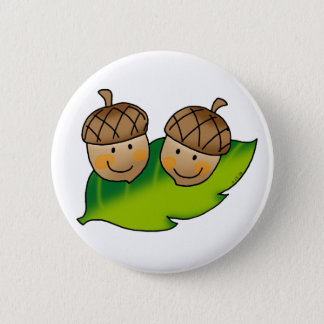 cute acorns 6 cm round badge