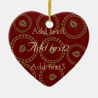 Cute Add Text Image Holiday Wedding Baby Leaves Ceramic Heart Decoration