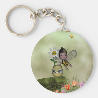 Cute Adorable Baby Bumble Bee Honey Keychain