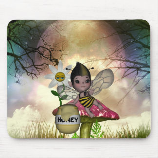 Cute Adorable Baby Bumble Bee Honey Mouse Mat