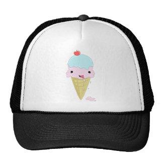 Cute adorable cartoon ice cream children s design trucker hats