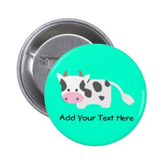 Cute Adorable Cow Button