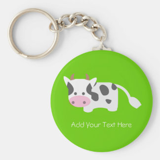 Cute Adorable Cow Keychain