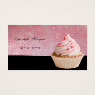 Cute Adorable , Cupcake Bakery Business Card