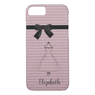 Cute Adorable Dress,Black Bow iPhone 8/7 Case