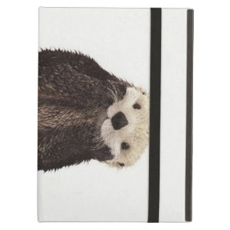 Cute adorable fluffy otter animal cover for iPad air