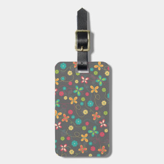 Cute adorable girly trendy colourful butterflies luggage tag