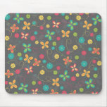 Cute adorable girly trendy colourful butterflies mouse pads