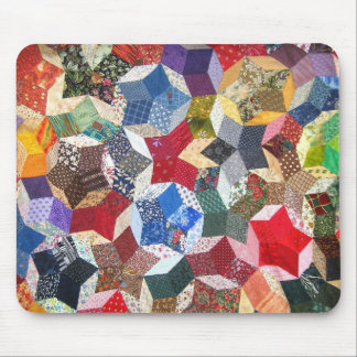 Cute adorable girly vintage patched quilt stars mouse mat