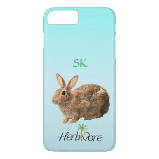 Cute Adorable Herbivore Bunny Custom Vegan iPhone 8 Plus/7 Plus Case