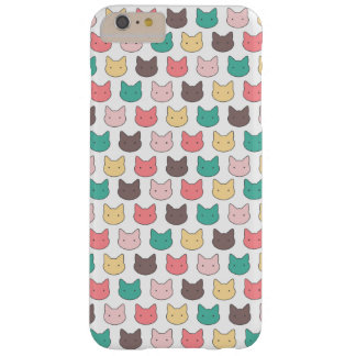 Cute adorable kittens heads illustration pattern barely there iPhone 6 plus case