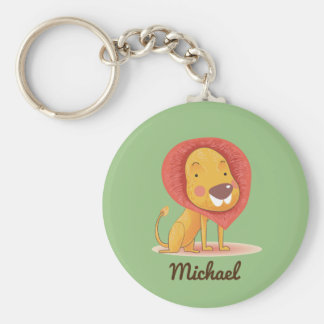 Cute Adorable Lion personalized custom color Key Ring