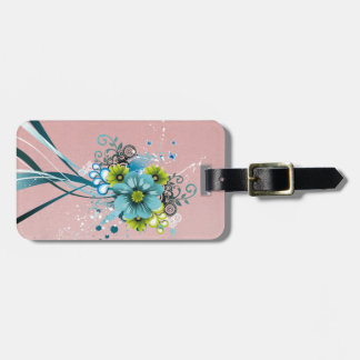 Cute Adorable Modern  Flowers Luggage Tag