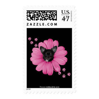 Cute Adorable Sly Heaven Chihuahua Postage Stamp