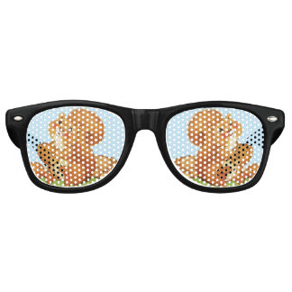 Cute Adorable Squirrel Acorns Nuts Retro Sunglasses