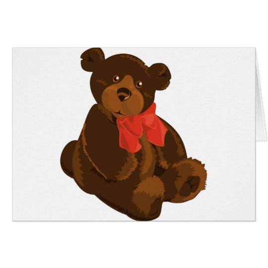 CUTE ADORABLE TEDDY BEAR CARD
