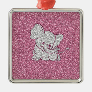 Cute adorable trendy girly smiling baby elephant christmas ornament