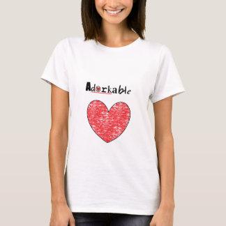 Cute Adorkable heart T-Shirt
