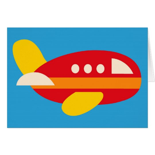 Cute Aeroplane Transportation Theme Kids Gifts Card