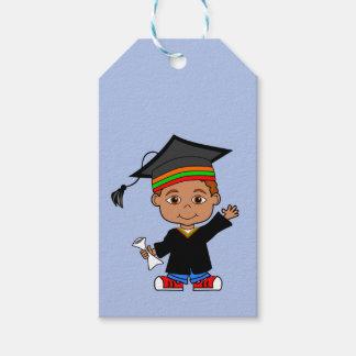 Cute African American Boy Graduate Gift Tag