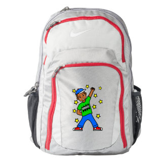 Cute African American Boy Winner Backpack