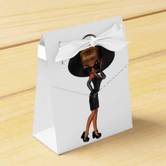 Cute African American Diva Wedding Favour Box