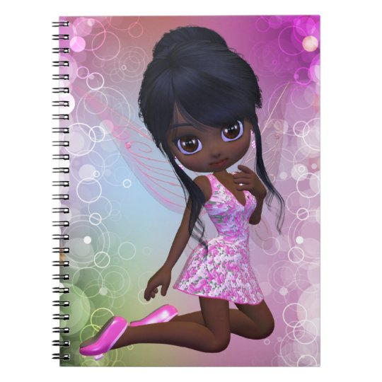 Cute African American Girl Notebook