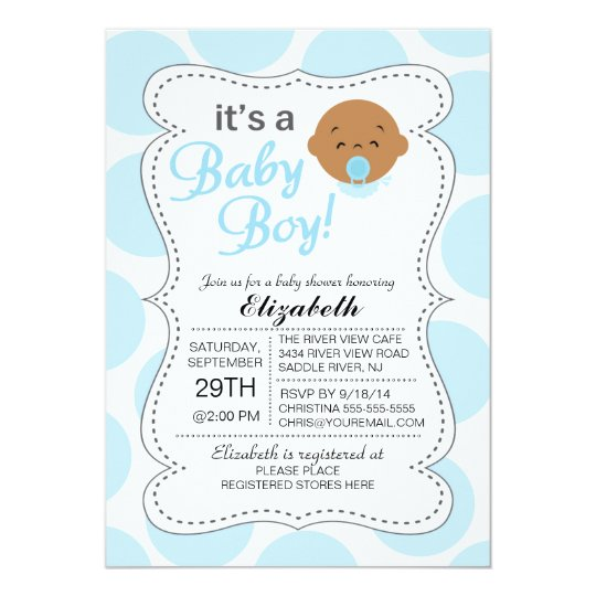 Cute African American It's a Baby Boy Baby