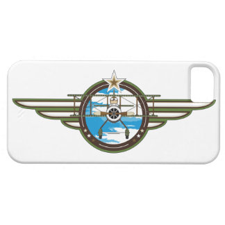 Cute Airforce Pilot and Biplane Barely There iPhone 5 Case