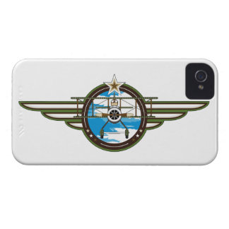 Cute Airforce Pilot and Biplane Case-Mate iPhone 4 Case