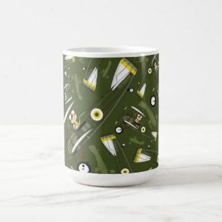 Cute Airforce Pilot and Biplane Coffee Mug