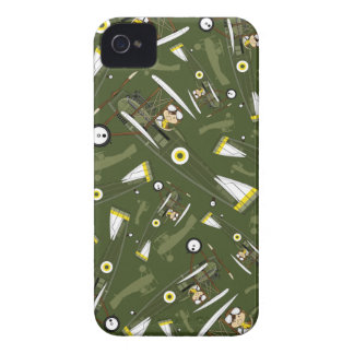 Cute Airforce Pilot and Biplane iPhone 4 Case-Mate Case