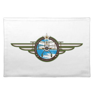 Cute Airforce Pilot and Biplane Placemat