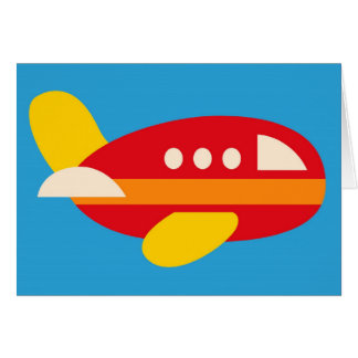 Cute Airplane Transportation Theme Kids Gifts Card
