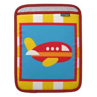 Cute Airplane Transportation Theme Kids Gifts iPad Sleeve