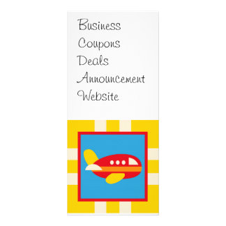 Cute Airplane Transportation Theme Kids Gifts Full Color Rack Card