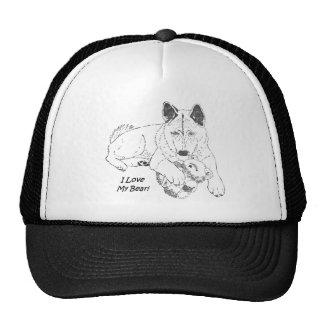 Cute akita and teddy bear dog art cap