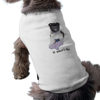 Cute akita puppy dog with teddy bear art puppy sleeveless dog shirt