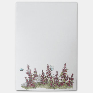 Cute Alaska Fireweed w/ Butterflies Post It Notes