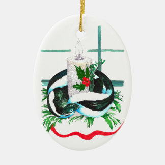 Cute Alaska Wildlife Christmas Oval Tree Ornament