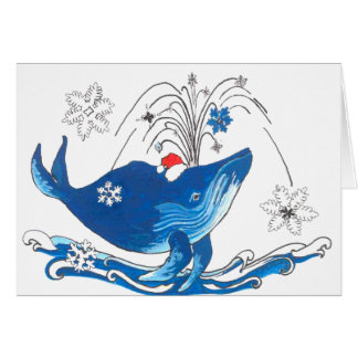 Cute Alaska Wildlife Humpback Whale Christmas Card