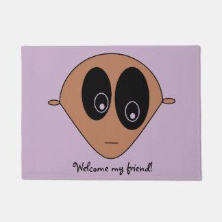Cute Alien Face Print Doormat