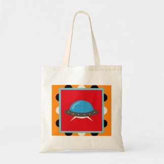 Cute Alien UFO Space Ship Unique Kids Gifts Tote Bag