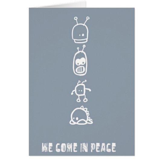 Cute Aliens Card