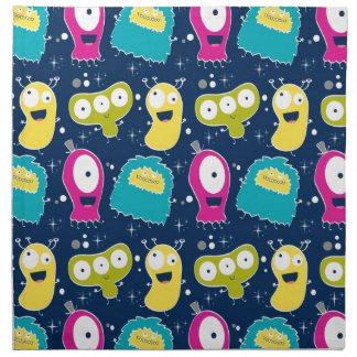 Cute Aliens Pattern Napkin