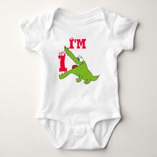 Cute Alligator 1st Birthday T Shirt, Creeper