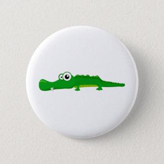 Cute alligator 6 cm round badge
